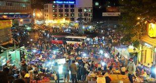 Chợ Đà Lạt khá nhộn nhịp về đêm