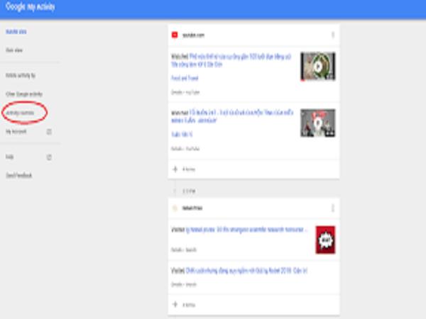 Cách xem lịch sử máy tính trên Google
