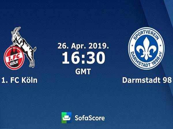Dự đoán Cologne vs Darmstadt, 023h30 ngày 26/4