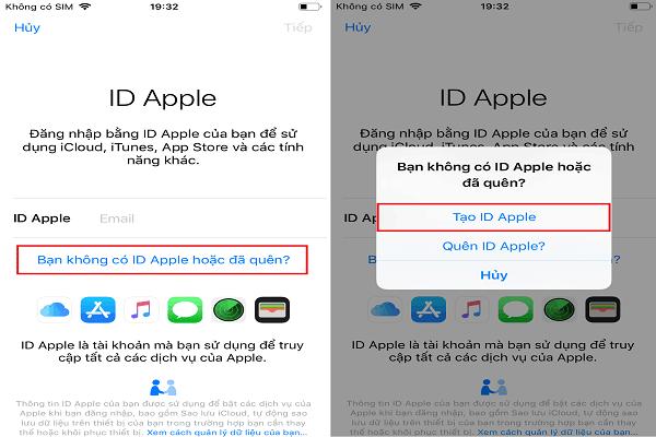 Cách tại ID Apple trên iPhone