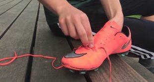 Cách buộc dây giày bóng đá